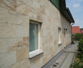 Облицовка фасада каменным шпоном